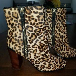 Katherine Kelly Animal Print Leopard Bootie Sz 8.5
